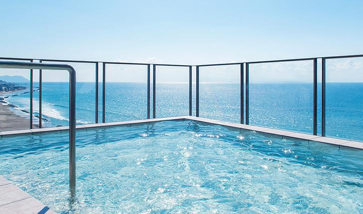 イマジンホテルの海を臨む露天風呂