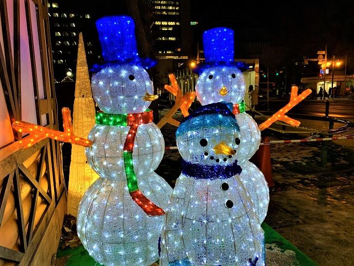 ミュンヘン・クリスマス市 雪だるまの写真