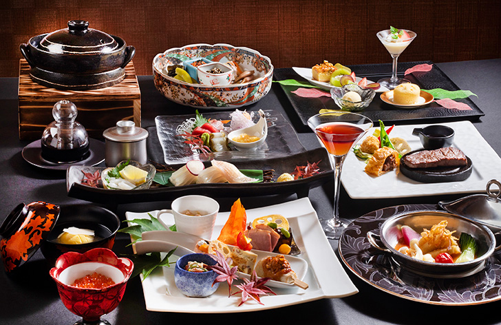 望楼函館の夕食一例