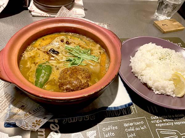 羊骨スープの生ラムハンバーグ
