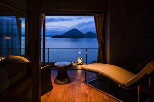 ザ・レイクスイート湖の栖の客室からの眺め