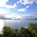 丸駒湖側客室からの風景