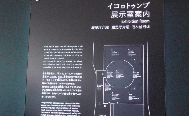 展示室案内板