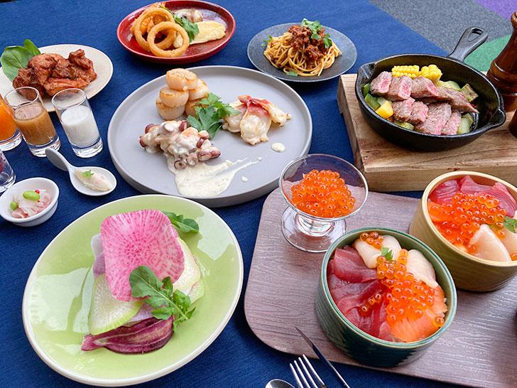 星野リゾートトマムの夕食ブッフェ