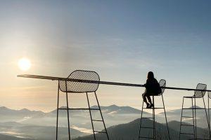 星野リゾートトマム雲海テラスのクラウドバーの眺め