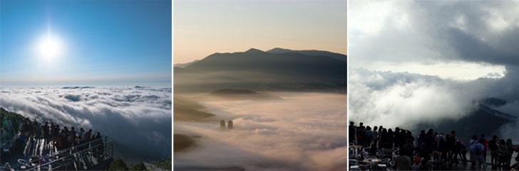 星野リゾートトマムの雲海の種類