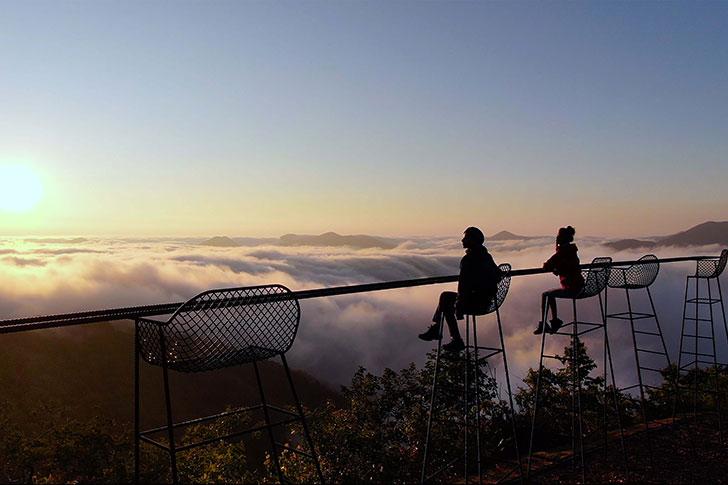 星野リゾートトマムの雲海が出た景色