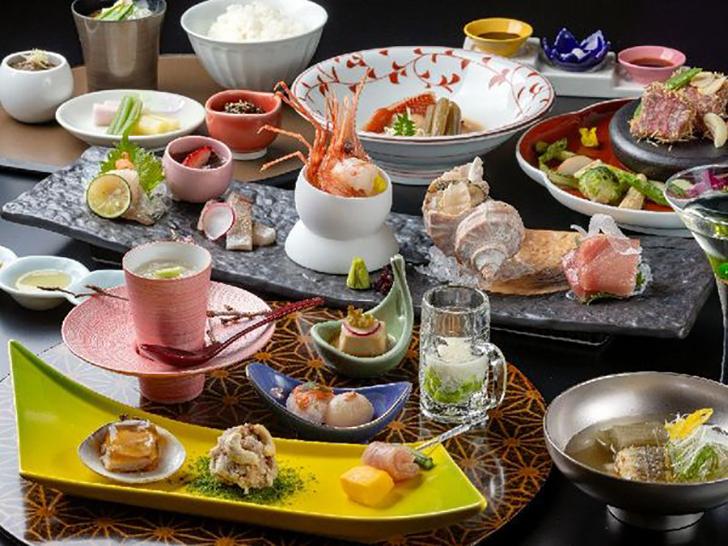 章月グランドホテルの2021春夏夕食膳